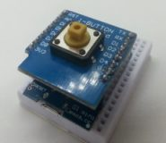 "Wemos D1 mini Shield - ""one Button Shield"""