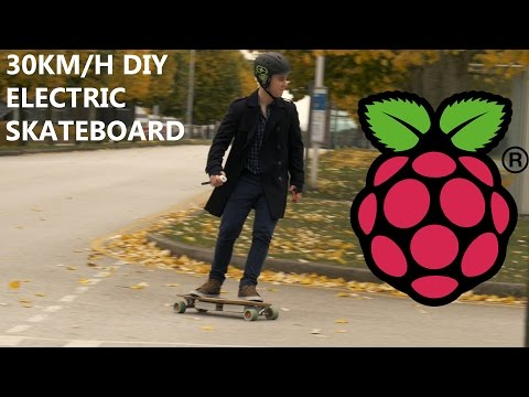 DIY 30KM/H ELECTRIC SKATEBOARD - RASPBERRY PI/WIIMOTE POWERED