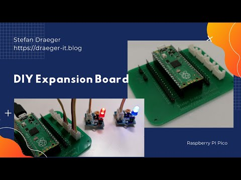 DIY Expansion Board for Raspberry PI Pico in action