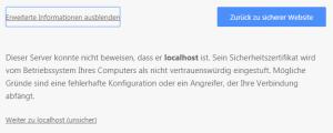 Chrome, erweiterte Einstellungen