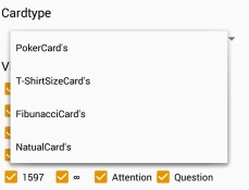 """Android App """"ScrumPokerCards"""""""