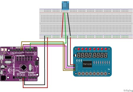 Arduino Lektion 42: TM1638 LED Taster Shield - Technik Blog
