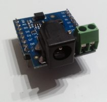 Wemos D1 mini Shield - DC Power Shield