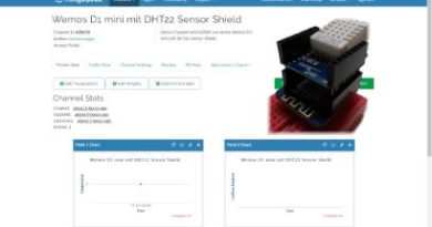 ThingSpeak - Wemos D1 mini mit DHT22 Shield