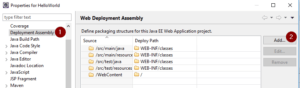 Eclipse - Deployment Assembly
