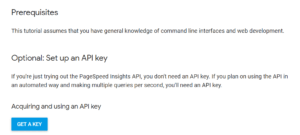Google Page Speed Insights - API Key erzeugen (1)