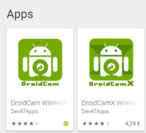 Google PlayStore - DroidCam
