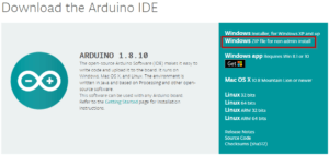 Download der Arduino IDE 1.8.10 als ZIP Paket