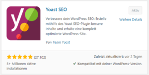 Wordpress Plugin - Yoast SEO