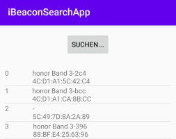 "Android App - ""iBeacon Search App"""