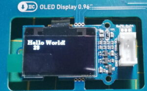 "Text ""Hello World!"" auf dem 0,96"" OLED Display"
