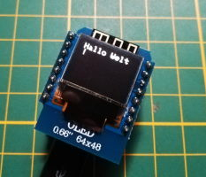 "Wemos D1 Mini - 0,66 Zoll OLED Display ""Hallo Welt!"""