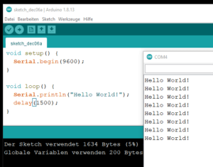 Arduino IDE / Totemduino - Hello World!